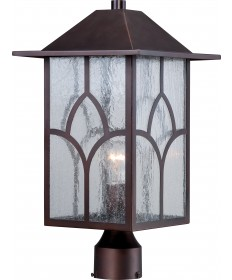 Nuvo Lighting 60/5645 Stanton 1 Light Outdoor Post Fixture with Clear