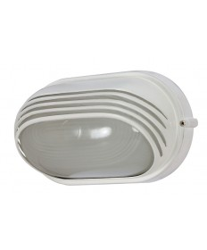 Nuvo Lighting 60/566 1 Light Cfl 10 inch Oval Hood Bulk Head (1) 13W GU24 Lamp Included