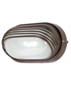 Nuvo Lighting 60/567 1 Light Cfl 10 inch Oval Hood Bulk Head (1) 13W GU24 Lamp Included