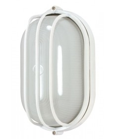 Nuvo Lighting 60/568 1 Light Cfl 10 inch Oval Cage Bulk Head (1) 13W GU24 Lamp Included