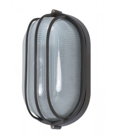 Nuvo Lighting 60/569 1 Light Cfl 10 inch Oval Cage Bulk Head (1) 13W GU24 Lamp Included