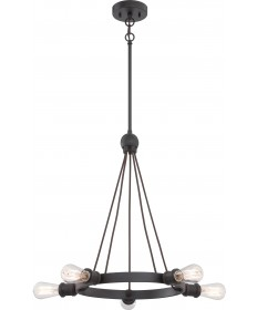 Nuvo Lighting 60/5725 Paxton 5 Light Chandelier Includes 40W A19