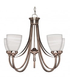 Nuvo Lighting 60/585 Triumph 5 Light 24 inch Chandelier with Sculptured Glass Shades