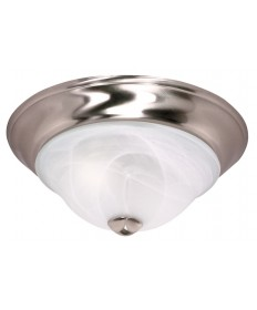 Nuvo Lighting 60/587 Triumph 2 Light 13 inch Flush Mount with Sculptured Glass Shades