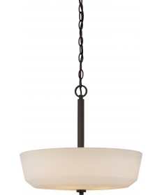 Nuvo Lighting 60/5907 Willow 4 Light Pendant with White Glass