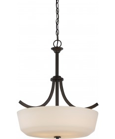 Nuvo Lighting 60/5927 Laguna 4 Light Pendant with White Glass