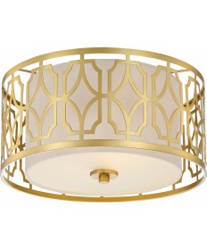 Nuvo Lighting 60/5931 Filigree 2 Light Flush Mount Natural Brass