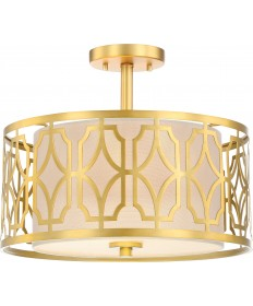 Nuvo Lighting 60/5937 Filigree 2 Light Semi Flush Mount Natural Brass