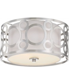 Nuvo Lighting 60/5942 Filigree 2 Light Flush Mount Brushed Nickel