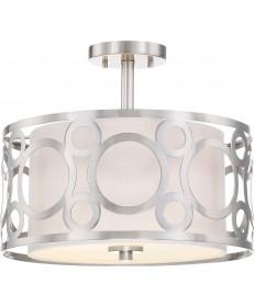 Nuvo Lighting 60/5948 Filigree 2 Light Semi Flush Mount White Linen