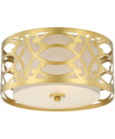Nuvo Lighting 60/5961 Filigree 2 Light Flush Mount Natural Brass