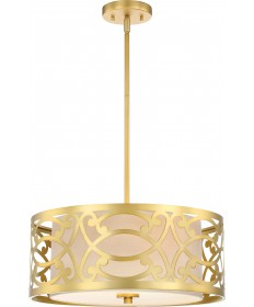 Nuvo Lighting 60/5964 Filigree 3 Light Pendant Natural Brass Finish