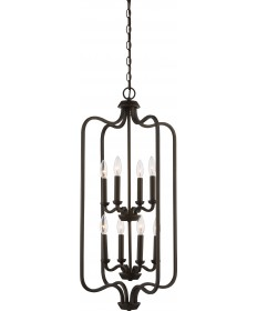Nuvo Lighting 60/5972 Willow 8 Light Caged Pendant Forest Bronze