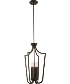 Nuvo Lighting 60/5976 Laguna 4 Light Caged Pendant Forest Bronze