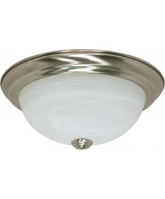 "Nuvo Lighting 60/6000 2 Light 11"" Flush Mount Alabaster Glass"