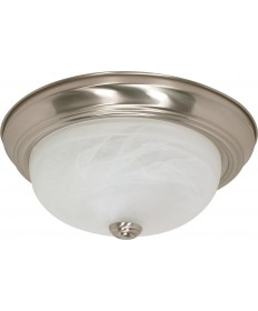 "Nuvo Lighting 60/6001 2 Light 13"" Flush Mount Alabaster Glass"