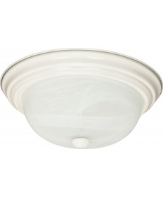 "Nuvo Lighting 60/6004 2 Light 11"" Flush Mount Alabaster Glass"