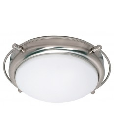 Nuvo Lighting 60/608 Polaris 2 Light 14 inch Flush Mount with Satin Frosted Glass Shades