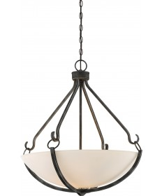 Nuvo Lighting 60/6125 4 Light Sherwood Pendant Iron Black with Brushed