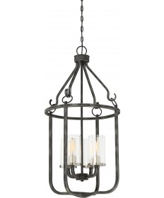 Nuvo Lighting 60/6127 4 Light Sherwood Caged Pendant Iron Black with