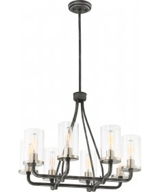 Nuvo Lighting 60/6128 8 Light Sherwood Chandelier Iron Black with