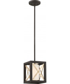 Nuvo Lighting 60/6135 1 Light Boxer Mini Pendant Matte Black with