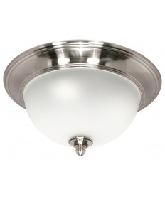 Nuvo Lighting 60/618 Palladium 2 Light 14 inch Flush Mount with Satin Frosted Glass Shades