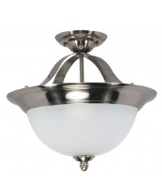 Nuvo Lighting 60/620 Palladium 3 Light 16 inch Semi-Flush with Satin Frosted Glass Shades