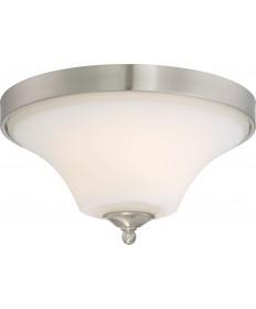 Nuvo Lighting 60/6211 Fawn 2 Light Flush Mount Fixture Brushed Nickel