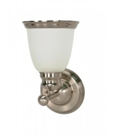 Nuvo Lighting 60/622 Palladium 1 Light 6 inch Vanity with Satin Frosted Glass Shades