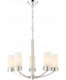 Nuvo Lighting 60/6225 Denver 5 Light Chandelier Fixture Polished
