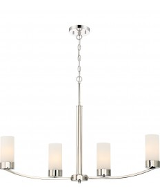 Nuvo Lighting 60/6228 Denver 4 Island Pendant Fixture Polished Nickel