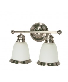 Nuvo Lighting 60/623 Palladium 2 Light 14 inch Vanity with Satin Frosted Glass Shades