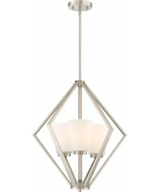 Nuvo Lighting 60/6245 Nome 3 Light Pendant Fixture Brushed Nickel