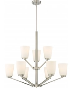 Nuvo Lighting 60/6249 Nome 9 Light Chandelier Fixture Brushed Nickel