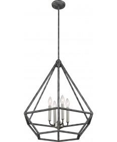 Nuvo Lighting 60/6261 Orin 4 Light Pendant Fixture Iron Black with