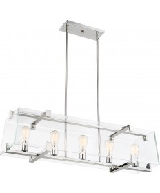 Nuvo Lighting 60/6295 Shelby 5 Light Island Pendant Fixture Polished