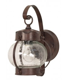 Nuvo Lighting 60/631 1 Light 11 inch Wall Lantern Onion Lantern with Clear Seed Glass