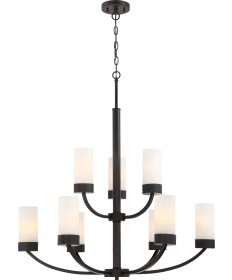 Nuvo Lighting 60/6329 Denver 9 Light Chandelier Fixture Mahogany