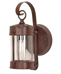 Nuvo Lighting 60/634 1 Light 11 inch Wall Lantern Piper Lantern with Clear Seed Glass