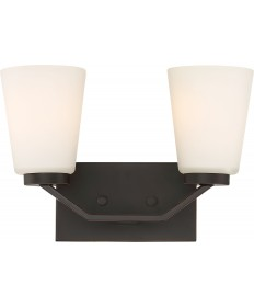 Nuvo Lighting 60/6342 Nome 2 Light Vanity Fixture Mahogany Bronze