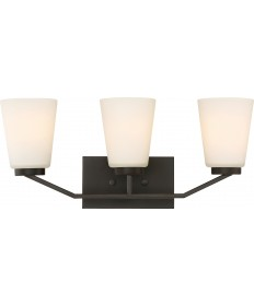 Nuvo Lighting 60/6343 Nome 3 Light Vanity Fixture Mahogany Bronze