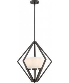 Nuvo Lighting 60/6345 Nome 3 Light Pendant Fixture Mahogany Bronze