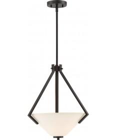 Nuvo Lighting 60/6347 Nome 2 Light Pendant Fixture Mahogany Bronze