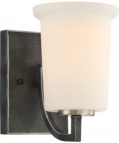 Nuvo Lighting 60/6371 Chester 1 Light Vanity Fixture Iron Black Finish