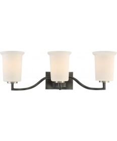Nuvo Lighting 60/6373 Chester 3 Light Vanity Fixture Iron Black Finish