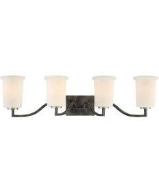 Nuvo Lighting 60/6374 Chester 4 Light Vanity Fixture Iron Black Finish