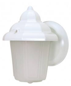 Nuvo Lighting 60/639 1 Light 9 inch Wall Lantern Hood Lantern with Satin Frosted Glass