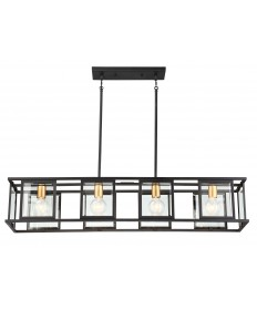 Nuvo Lighting 60/6417 Payne 4 Light Island Pendant With Clear Beveled