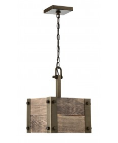 Nuvo 60/6421 Winchester Collection 1 Light Mini Pendant With Aged Wood